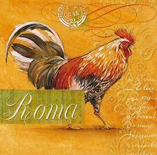 ANGELA staehling Roma Rooster Imagen TERMINADA 30x30 Mural Cocina gallo