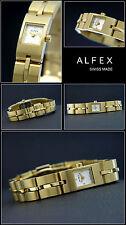 Elegant Alfex WOMEN'S WATCH SWISS MADE VERY SLIM Complete Stainless Steel