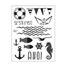 Viva Decor A5 Clear Silicone Stamps Set - Ahoy! #160