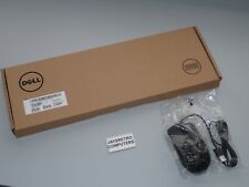 NEW DELL QUIETKEY KB216-BK-UK BLACK USB KEYBOARD QWERTY UK + USB SCROLL MOUSE