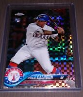 Willie Calhoun - 2018 Topps Chrome Rookie Refractor Texas Rangers