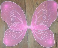 NEW Pink net fairy wings glitter/swirl Adult childrens party hen do fancy dress