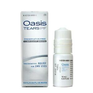 Oasis TEARS PF Preservative-Free Lubricant Eye Drops Bottle - 10mL/0.34 fl oz