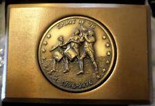 Vintage Brass Color Bicentennial Belt Buckle Spirit of 76 NEW OLD STOCK  LOOK HL