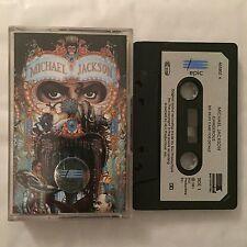 MICHAEL JACKSON - Dangerous (UK Cassette Tape - Paper Labels, Dolby)