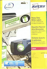 Avery Pack Of 240 (99.1 x 42.3mm) Laser Heavy Duty Durable White Labels L4776-20