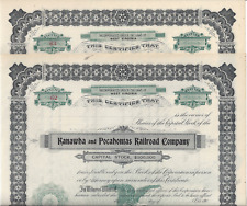 2 Stks Kanawha & Pocahontas RR 190- WV Not issued Ran 14 miles See INFO image