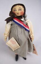 "Rappahannock Rags Columbian Centennial 1993 Emma 14"" Cloth Folk Art Doll"