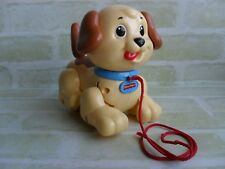 CUTE VINTAGE COLLECTABLE 2005 MATTEL - FISHER PRICE PULL ALONG TOY DOG