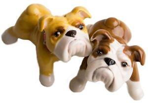 Bulldog Gift, Cruet Set Handmade by Blue Witch