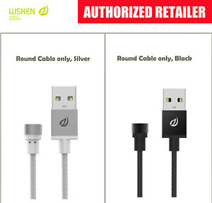 WSKEN Round CABLE ONLY(Black/Silver) 4 ROUND Lightning/ Micro-USB/ Type-C heads