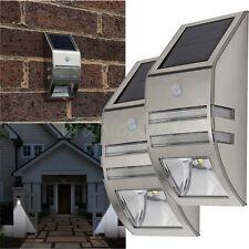 2 x Home Garden Solar Powered LED Wall Light Motion Sensor Security Lamp Outside