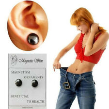 1pair Women Magnetic Acupuncture Earring Studs Weight Loss Slimming Supplies
