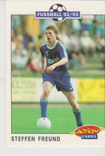 Panini Fussball 92-93 Action Cards #195 Steffen Freund FC Schalke 04