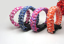 Wholesale 4pcs Paracord Parachute Rope Bracelet Bangle Survival Camping Climbing