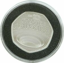 More details for 2019 royal mint stephen hawking piedfort 50p fifty pence silver proof coin
