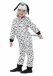 KIDS DOG PUPPY ANIMAL DALMATION DALMATIAN TODDLER BOYS GIRLS FANCY DRESS COSTUME