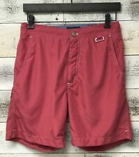 69ba336a2d Peter Millar Collection Solid Red Bathing Suit Swim Trunks Shorts Size S