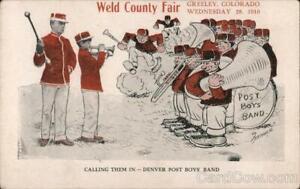 Greeley,CO Denver Post Boys' Band-Weld County Fair 1910 Colorado Postcard