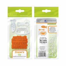 Tonic Studios pampered pets die & stamp set 1191e dinners up fish bone