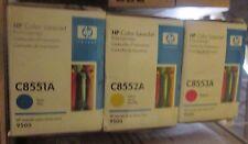 NEW SET 3 Genuine HP 822A LaserJet 9500 TONER C8551A C8552A C8553A