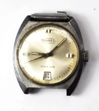 Ernest Borel Space Gem Automatic Date 55 17J Wristwatch 34mm Stainless