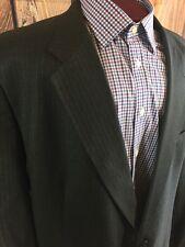 Burberry Men's Suit Jacket, 52L, 2 Button, Charcoal Pinstripe, Wool, Single Vent