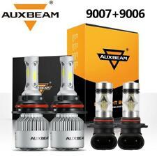 AUXBEAM 9007+9006 LED Headlight Bulbs Fog Kit for Dodge Ram 1500 2500 3500 02-05