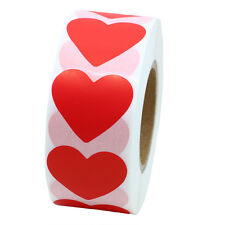 Color Coding Dot Labels 30mm Love Heart Stickers Adhesive Label 1,000 Per Roll