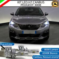 KIT FULL LED LAMPADE H7 6500K BIANCO 8000 LM XENON CANBUS PEUGEOT 3008 SUV