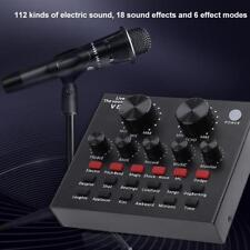 V8 Audio USB Stereo Mixers Headset Microphone Webcast Live Sound Card Adapter