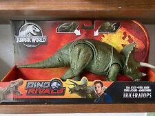 New! Jurrassic World Dino Rivals Dual Attack Triceratops Dinosaur Toy