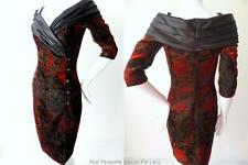 GREG SERNACK AUSTRALIA Size 6 - 8  US 2 - 4 Vintage Velvet Sheath Dress