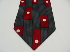 PETERS & ASHLEY - GEOMETRIC WITH POLKA DOTS - VINTAGE - 100% SILK NECK TIE!
