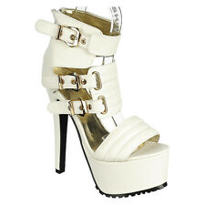 Strappy Open Toe High Heels Stilettos Platform Pumps Booties Dancer shoes H82