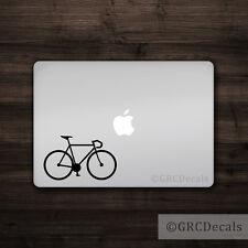 Road Bike - Mac Apple Logo Laptop Vinyl Decal Sticker Macbook Bicycle Ride Cycle