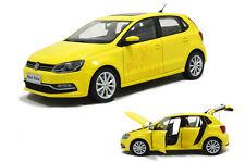 1/18 1:18 Scale VW Volkswagen New Polo 2014 Yellow DieCast Model Car Paudimodel