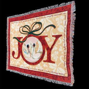 Christmas Joy African American Angels Black Art Tapestry Afghan Throw with Verse