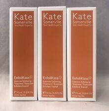x3 KATE SOMERVILLE ExfoliKate Intensive Exfoliating Treatment TRAVEL 0.25oz BNIB