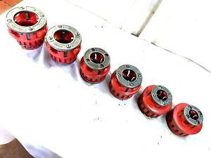 "6 Ridgid Model 12-R Rachet Pipe Threader Die's "" NICE SET """