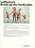 1969 Original Advertising' Lufthansa Germany Airlines the Family Plan