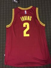 New Kyrie Irving Cavaliers Red Adidas Jersey Size Large Swingman Jersey