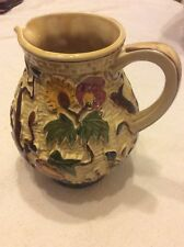 Vintage H. J. Wood - Relief Moulded Indian Tree Jug  8 inches tall.