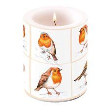 Kerze, Lampionkerze ROBINS FAMILY 12cm Ambiente | Vogel, Rotkehlchen