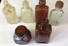 Lot of 6 small bottles and jars