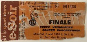 1978 European Cup Winners Cup Final Ticket - Anderlecht v Austria Vienna