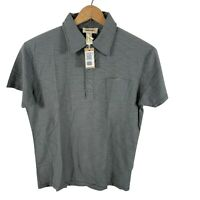 Diesel polo shirt gray short sleeve mens large camica NWT