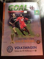 VFL WOLFSBURG v RODA JC  1999-2000  UEFA CUP  -  PROGRAMME