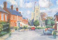 Art Postcard, Reepham Market Place, Norfolk by Julie Adams 34i