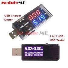 CARICABATTERIE USB LCD corrente Medico RILEVATORE DI TENSIONE BATTERIA Voltmetro Amperometro Tester